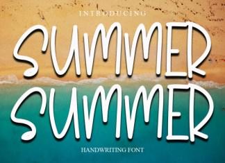 summer summer Display Font