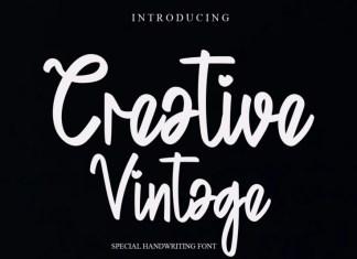 Creative Vintage Script Font