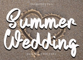 Summer Wedding Brush Font