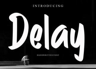 Delay Brush Font