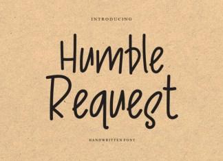 Humble Request Handwritten Font