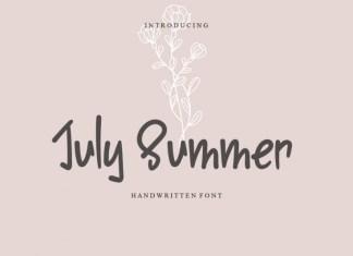 July Summer Display Font