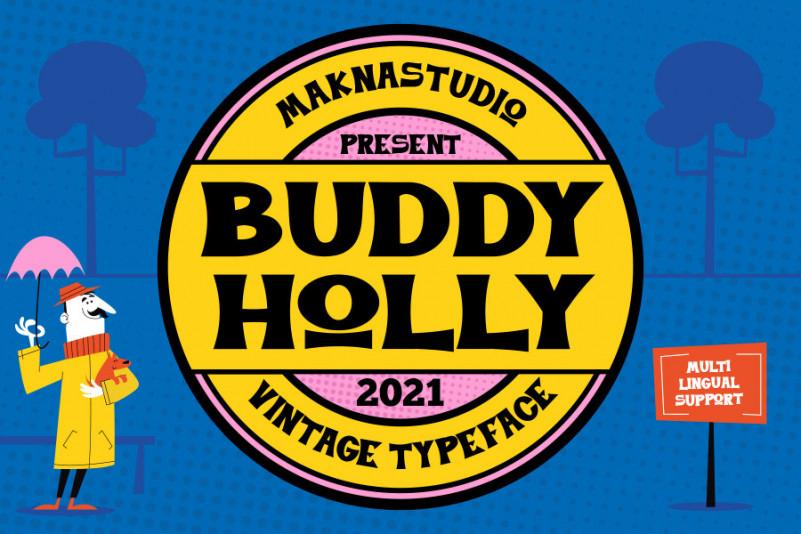 Buddy Holly Display Font