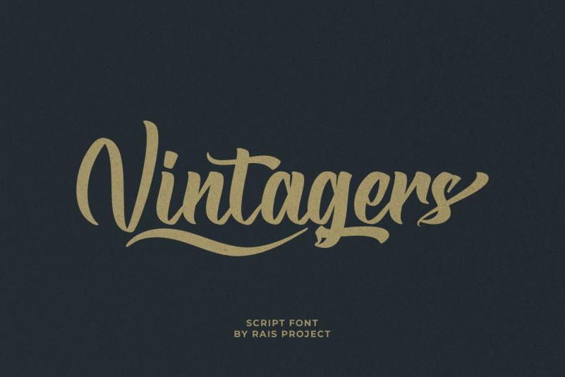 Vintagers Script Font