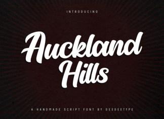 Auckland Hills Bold Script Font