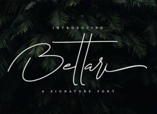 Bettari Script Font