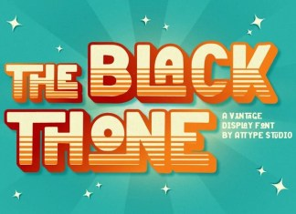 Black Thone Display Font