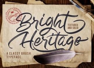 Bright Heritage Brush Font