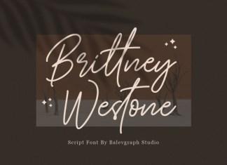 Brittney Westone Handwritten Font