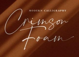 Crimson Foam Script Font