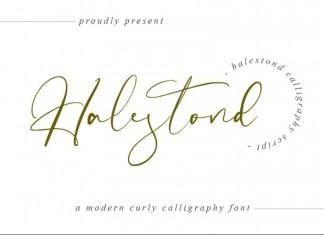 Halestond Script Font