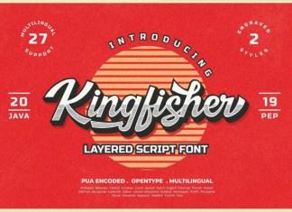 Kingfisher Layered Script Font