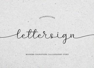 Lettersign Script Font