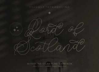 Lord of Scotland Handwritten Font