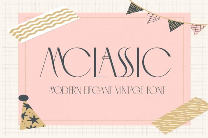 MCLASSIC FONT