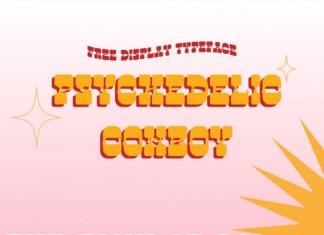 Psychedelic Cowboy Display Font