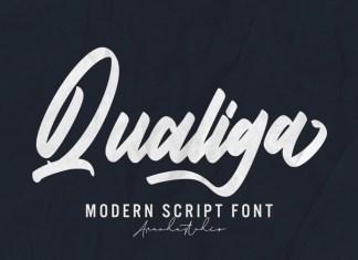 Qualiga Script Font