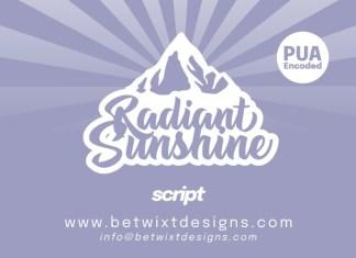 Radiant Sunshine Bold Script Font