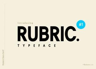 Rubric Sans Serif Font