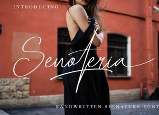 Senoteria Handwritten Font