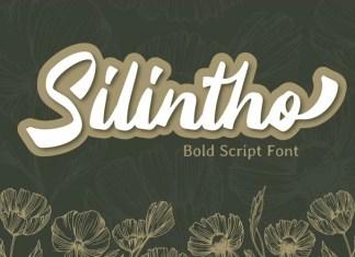 Silintho Brush Font