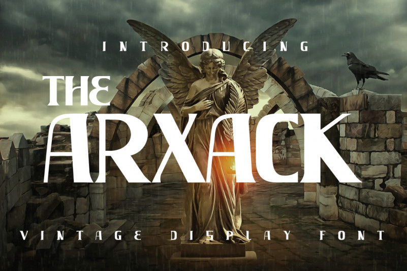 The Arxack Display Font