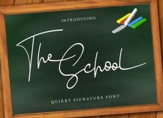 The school Handwritten Font
