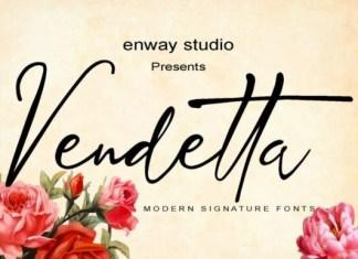 Vendetta Script Font