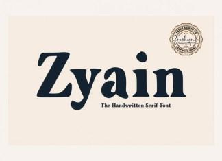 Zyain Serif Font