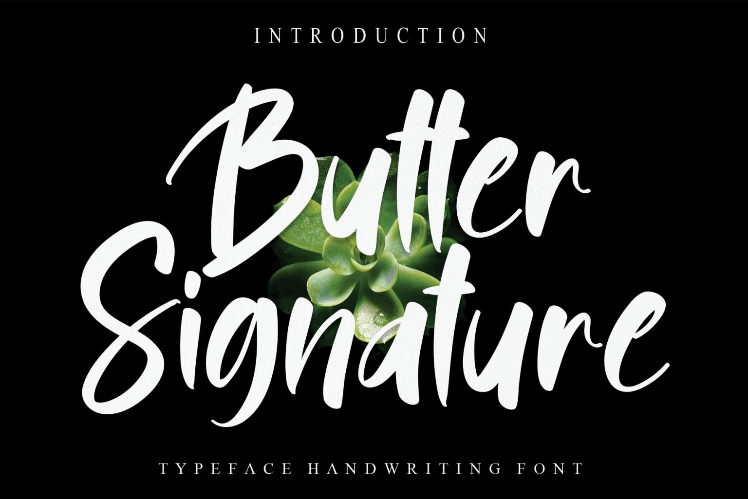 Butter Signature Script Font