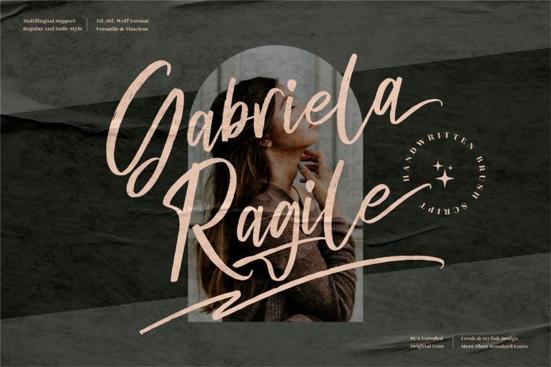 Gabriela Ragile Script Font