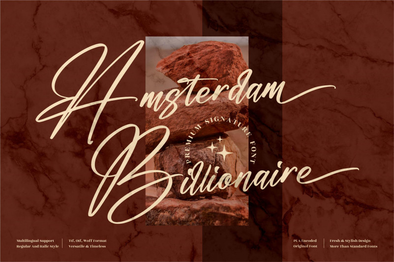 Amsterdam Billionaire Script Font