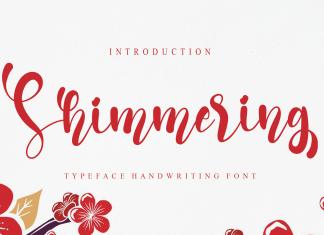 Shimmering Font