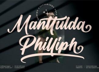 Manttulda Philliph Script Font