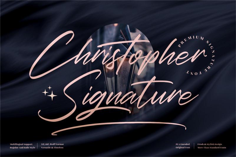 Christopher Signature Script Font
