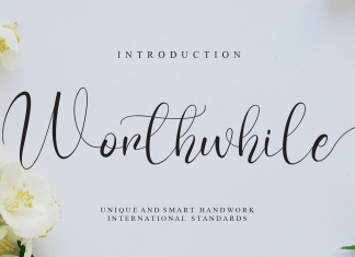 Worthwhile Calligraphy Font