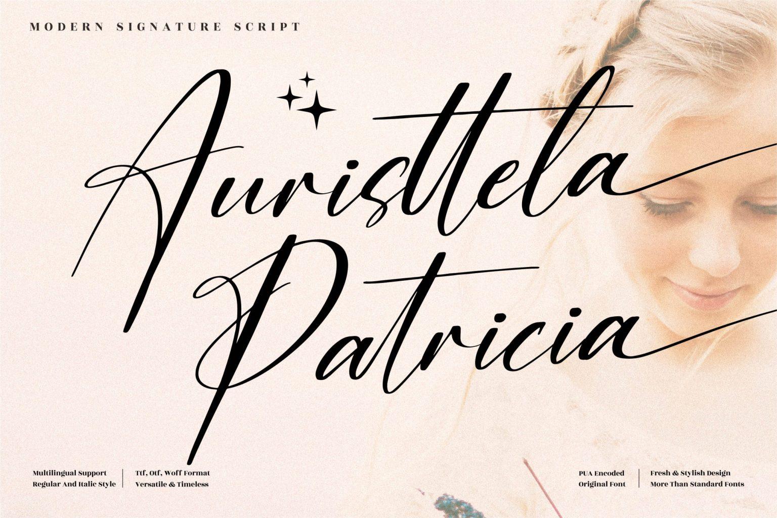 Auristtela Patricia Script Font