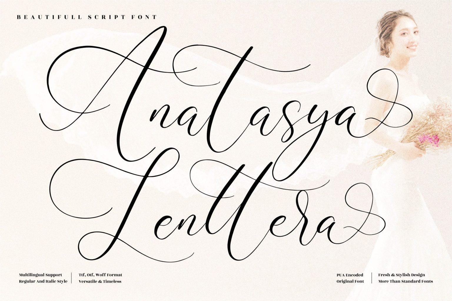Anatasya Lenttera Calligraphy Font