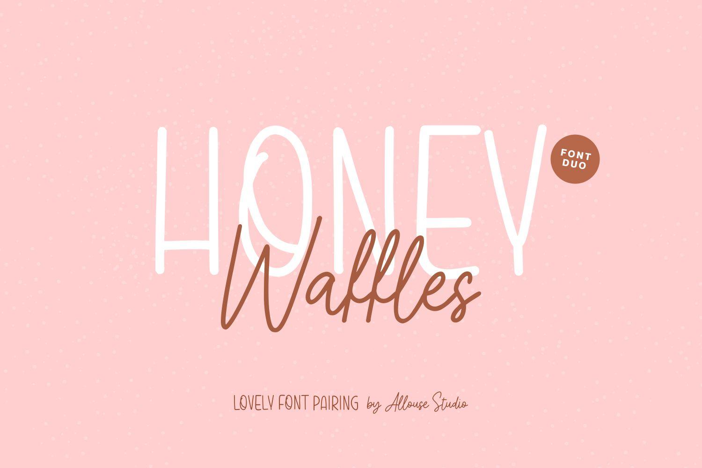 Honey Waffles Script Font