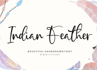 Indian Feather Handdrawn Font