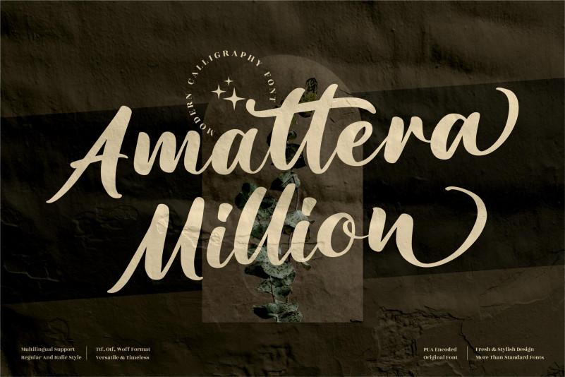 Amattera Million Script Font
