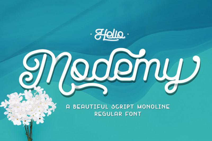 Modemy Script Font