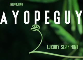 AYOPEGUY Sans Serif Font