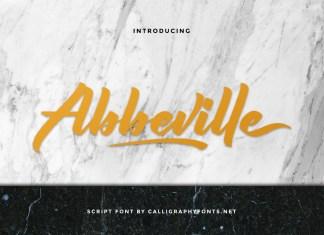 Abbeville Script Font