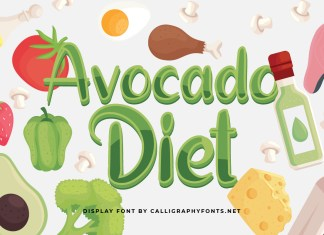 Avocado Diet Display Font