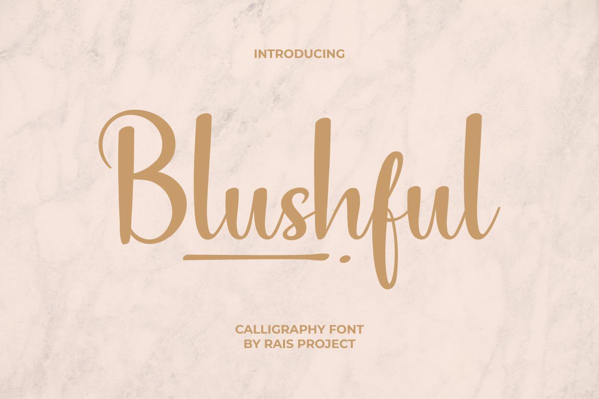 Blushful Calligraphy Font