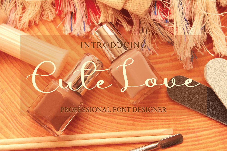 Cute Love Script Font