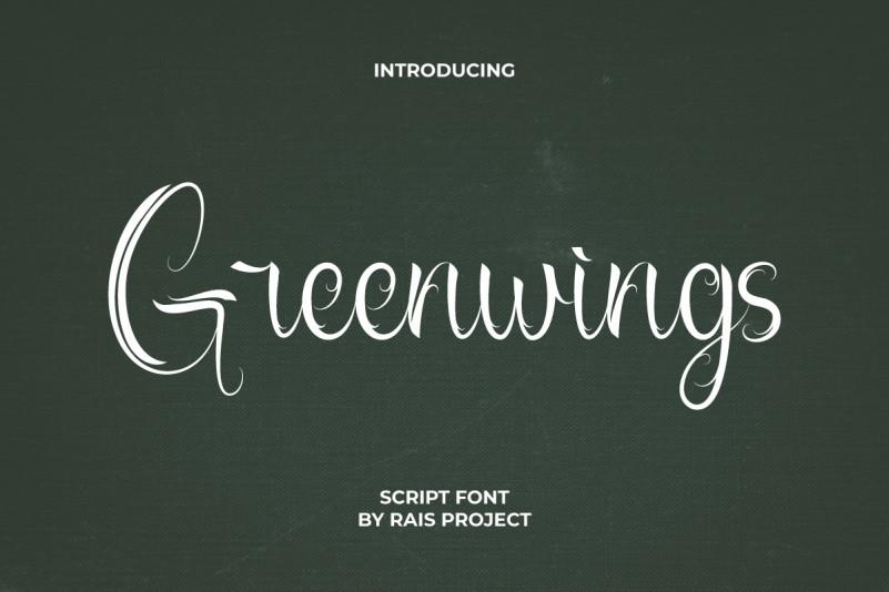 Greenwings Script Font