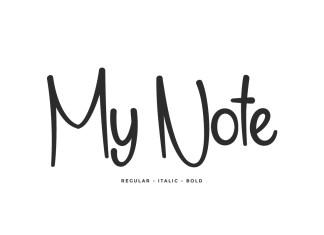 My Note Handwriting Font