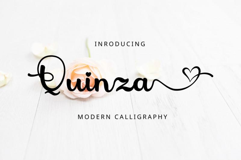 Quinza Script Font
